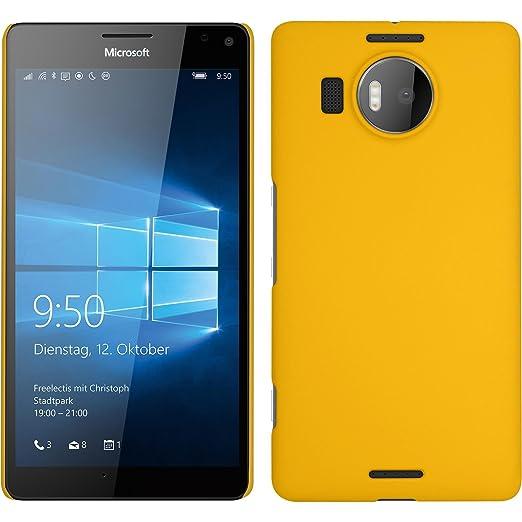 13 opinioni per Custodia Rigida per Microsoft Lumia 950 XL- gommata giallo- Cover PhoneNatic +