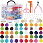 PP OPOUNT 27009 Pieces Glass Seed Beads Kit, Multiple Sizes Craft