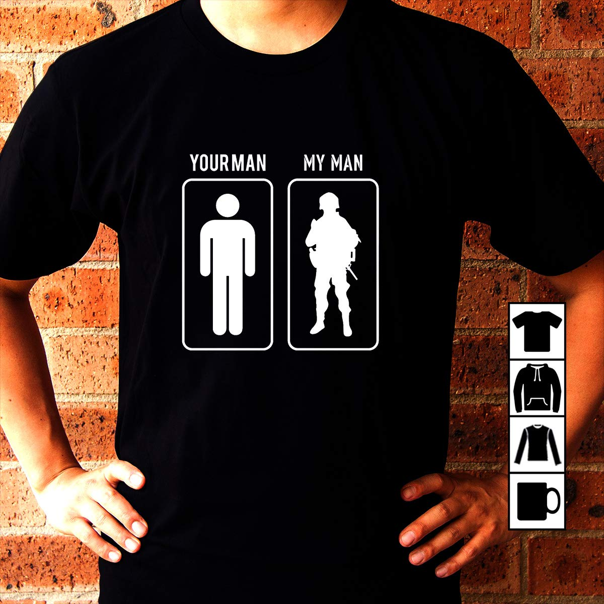 check out 93a78 d1e15 Amazon.com: Military Army Soldier Army Your Man My Man ...