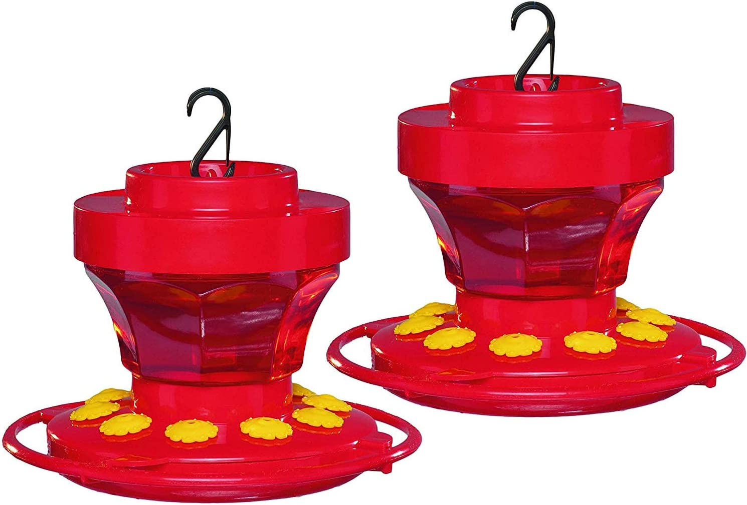 First Nature 16 oz. Hummingbird Flower Feeder (2 Pack), Red (993091-54A)