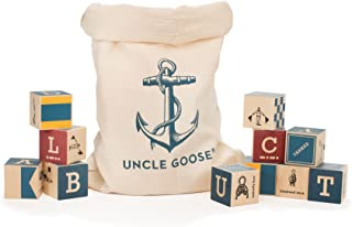product image for Uncle Goose Nautical Blocks with Canvas Bag - Made in USA