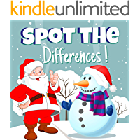SPOT THE DIFFERENCES! : Christmas Edition. This Cute Book is Full of Fun Puzzles Find 5 Differences! Lots of Fun and…