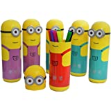 My Sketch Pens Set In Minions Shaped Box For Kids Birthday Party Gift (Pack Of 6)