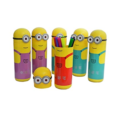 My Sketch Pens Set In Minions Shaped Box For Kids Birthday Party Gift Pack Of 6 Amazonin Office Products