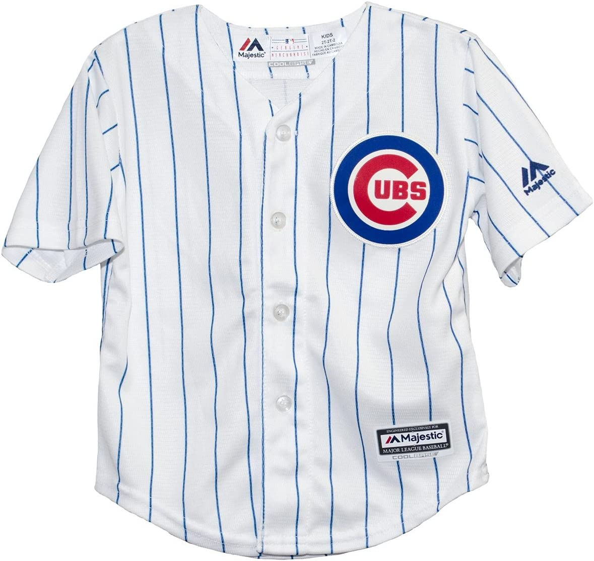 Majestic Chicago Cubs Home Pinstripe