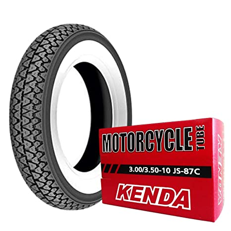 Par gomas neumáticos Kenda K333 banda blanca 3.00 – 10 42J Vespa 50 special