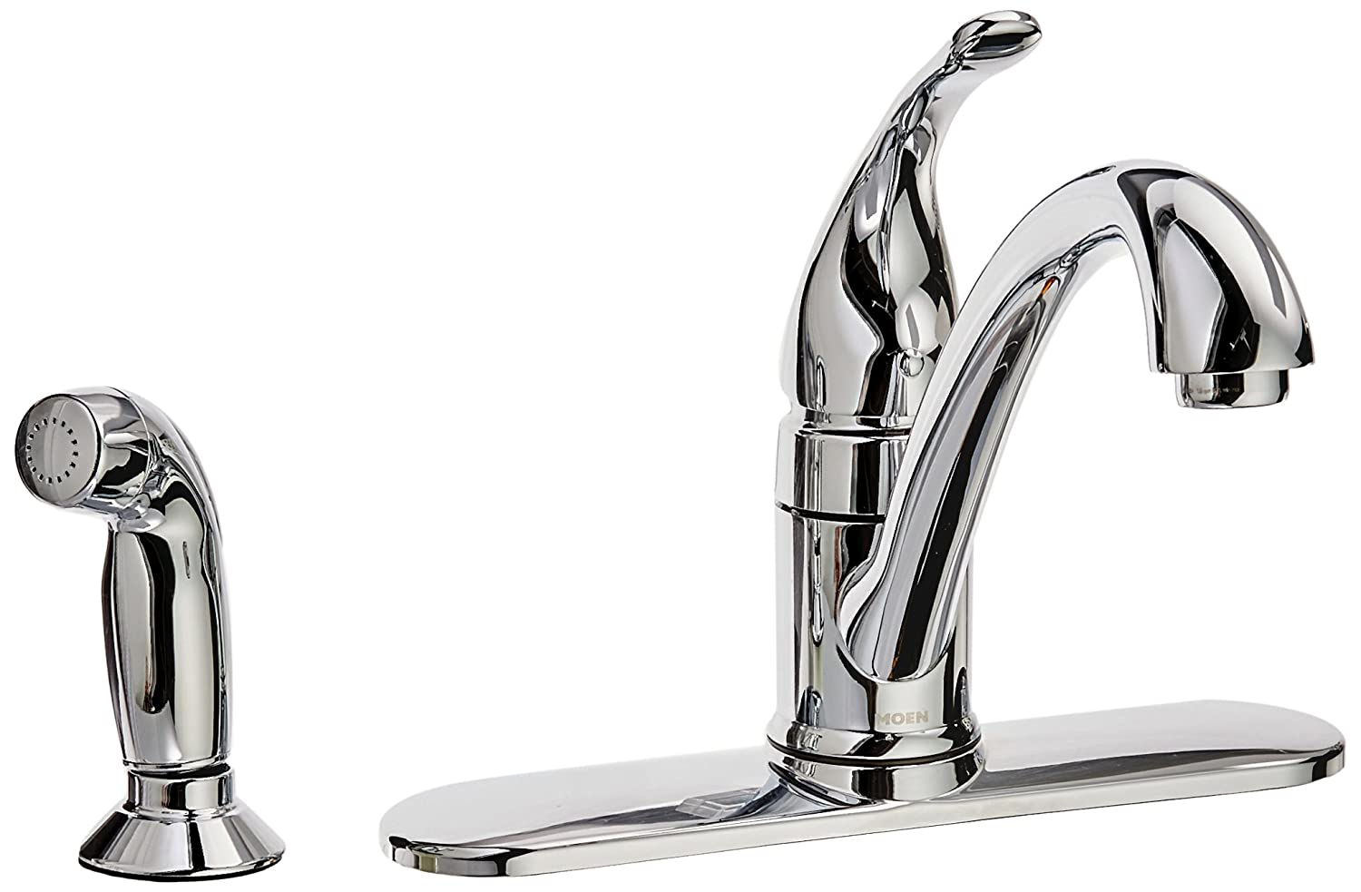 Amazon.com: Moen CA87480 Kitchen Faucet with Side Spray from the ...