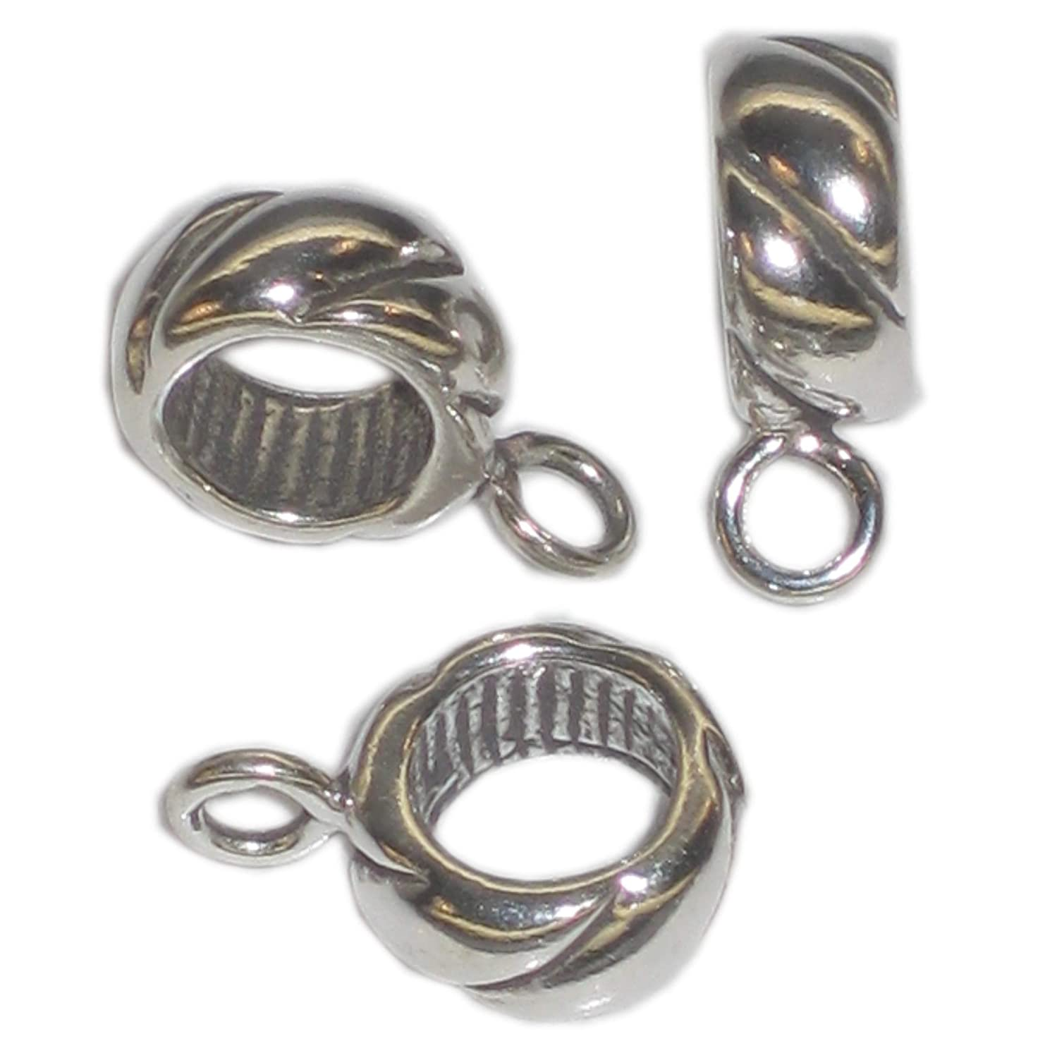Bead sterling silver charm spacer Converter .925 x 1 Converters spacers SSCB89