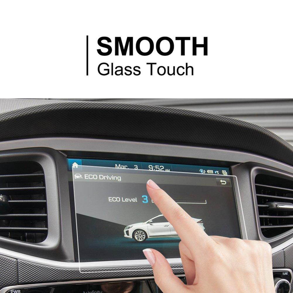 LFOTPP Hyundai Ioniq Hybrid Elektro 8 Pouces Navigation Verre Tremp/é Duret/é 9H Film Protection GPS Nav /Écran Protecteur Vitre