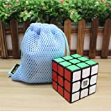 New MoYu WeiLong GTS2 GTS Plus 3x3x3 Magic Cube WeiLong GTS2 V2 Version 2 Speed Puzzle Cube smooth turning Cube Toy Magic Cube + One Cube Bag (Black)