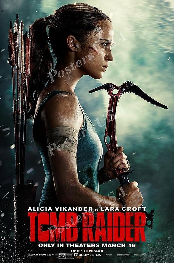 Amazon Com Posters Usa Tomb Raider 2018 Alicia Vikander Movie Poster Glossy Finish Fil759 24 X 36 61cm X 91 5