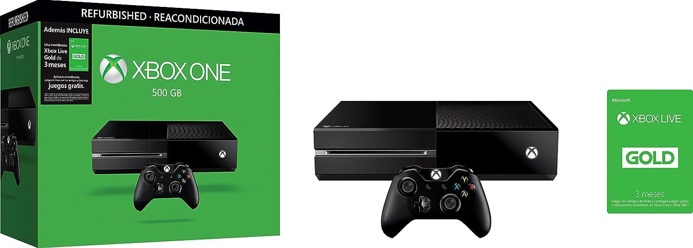 Consola Xbox One 500 Gb Reacondicionada Xbox Live Gold De 3 Meses