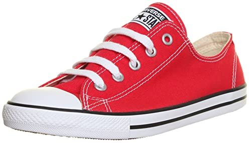 0d88b1abe8f1 SV - Genuine Converse 537107 All Star Chuck Taylor Plimsolls Dainty Womens  Trainers - Red