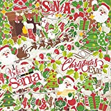 Christmas Eve - Die Cuts & Paper Set - by Miss Kate Cuttables - 16 Sheets of 12''x12'' Cardstock & Over 60 Coordinating Die Cuts - Exclusive Original Matching Set
