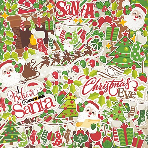 Christmas Eve - Die Cuts & Paper Set - by Miss Kate Cuttables - 16 Sheets of 12''x12'' Cardstock & Over 60 Coordinating Die Cuts - Exclusive Original Matching Set by Miss Kate Cuttables