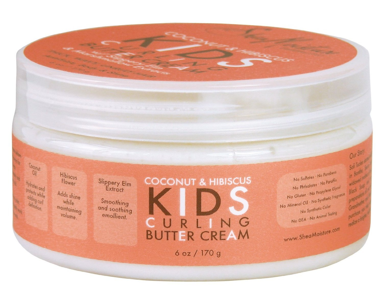 Shea Moisture Coconut & Hibiscus Kids Curling Butter Cream, 6 Ounce