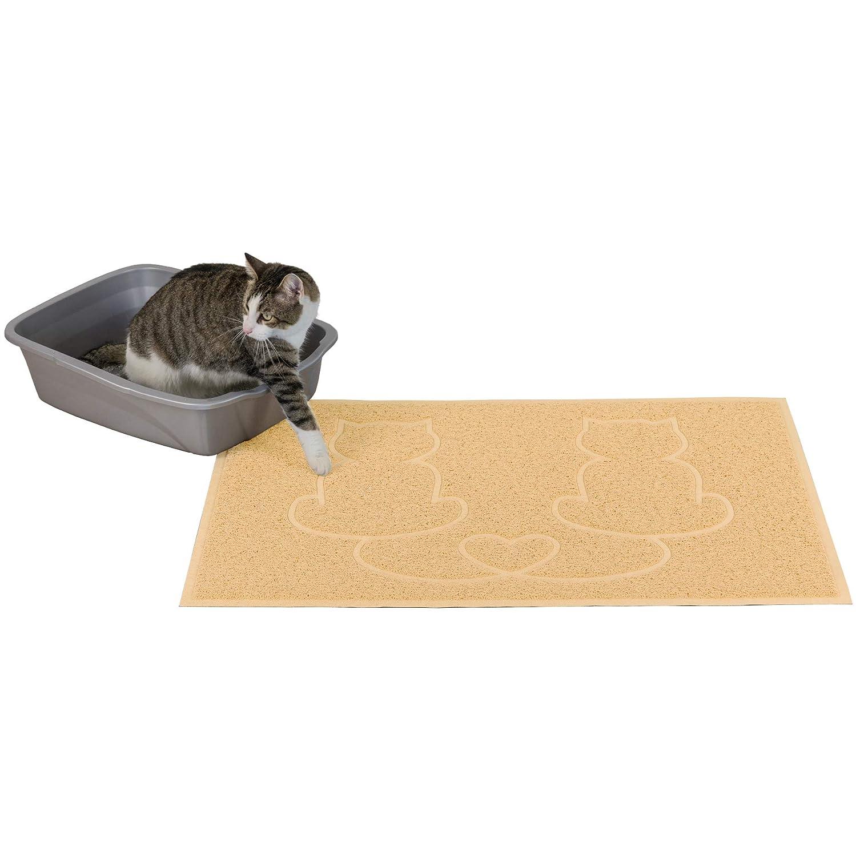 Bowl O'Cream FurHaven Pet Food Mat   Tiger Tough Tidy Paws Litter & Food Mat, Cream