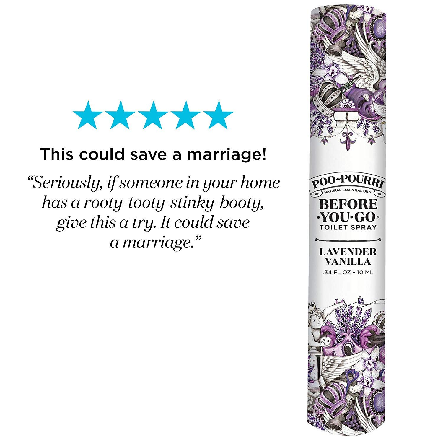 Poo-Pourri Travel Size 10mL - (2) Original Scent, (2) Lavender Vanilla Scent and Tropical Hibiscus 1.4 Ounce Bottle with Bottle Tag Included by Poo-Pourri (Image #5)