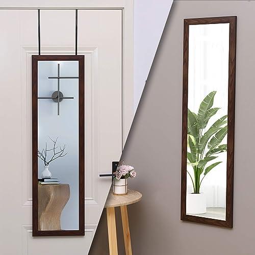 ZHUIDU HOME Door Mirror Full Length 14″ x 48″ Full Body Mirror Over The Door
