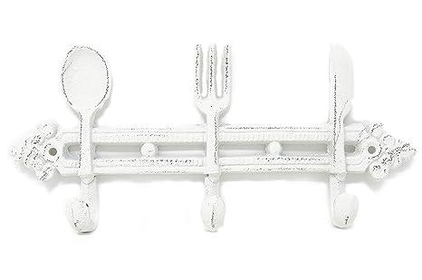 Hierro fundido utensilios de cocina, cuchara, cuchillo y ...