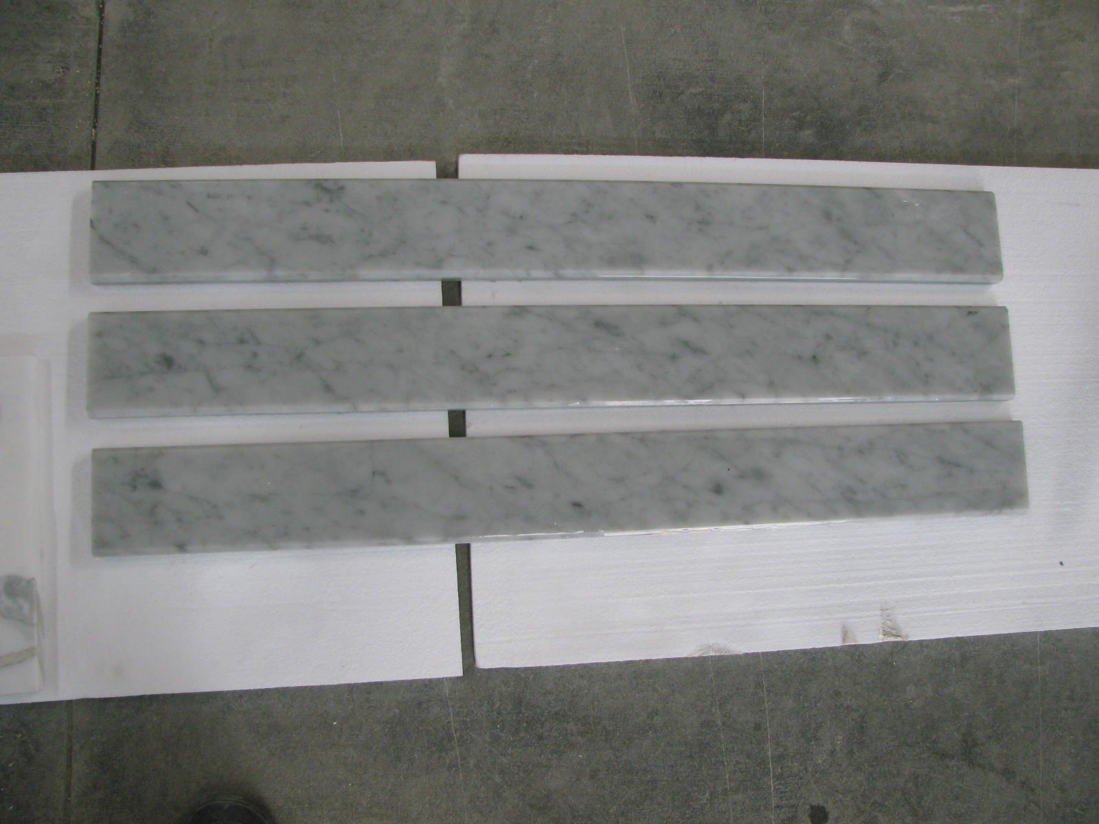 Italian Bianco Carrara Polished Marble Saddles by MarbleTileDirect (Image #2)