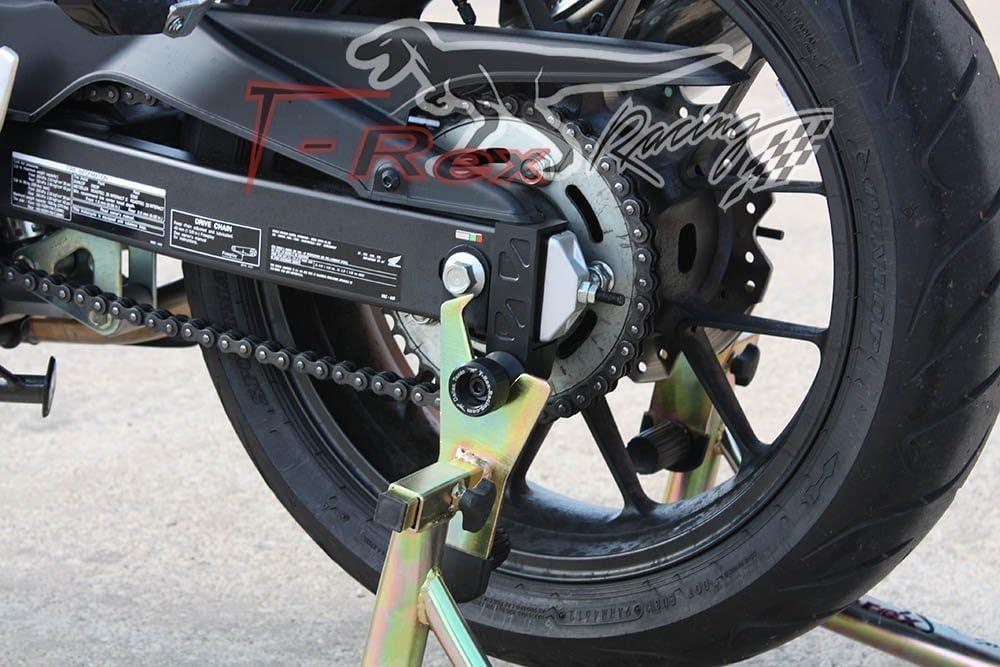 On Honda CBR500R No Cut Frame Sliders T-Rex Racing 2016 BlueWhite