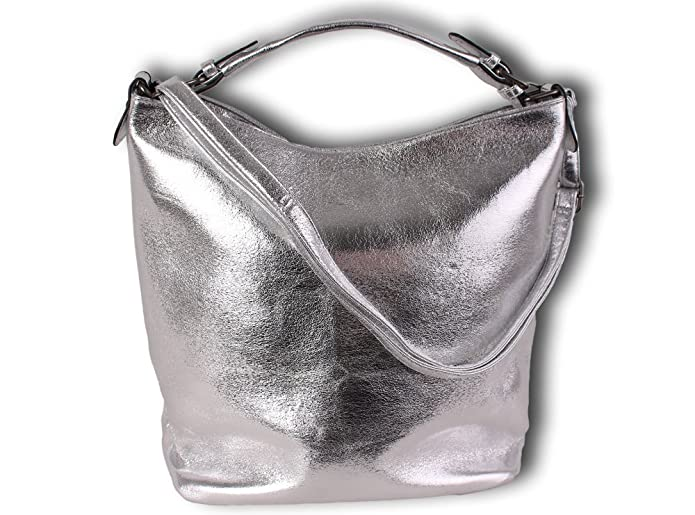 K&Company Damen Holo Taschen Silber Rosegold Glanz Glitzer