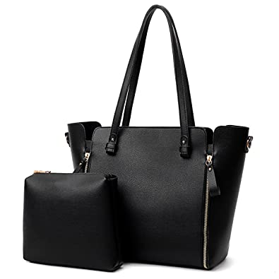 e0e3f3a38249 Image Unavailable. Image not available for. Color  Coolives Women s handbag  fashion PU leather two-piece shoulder bag ...