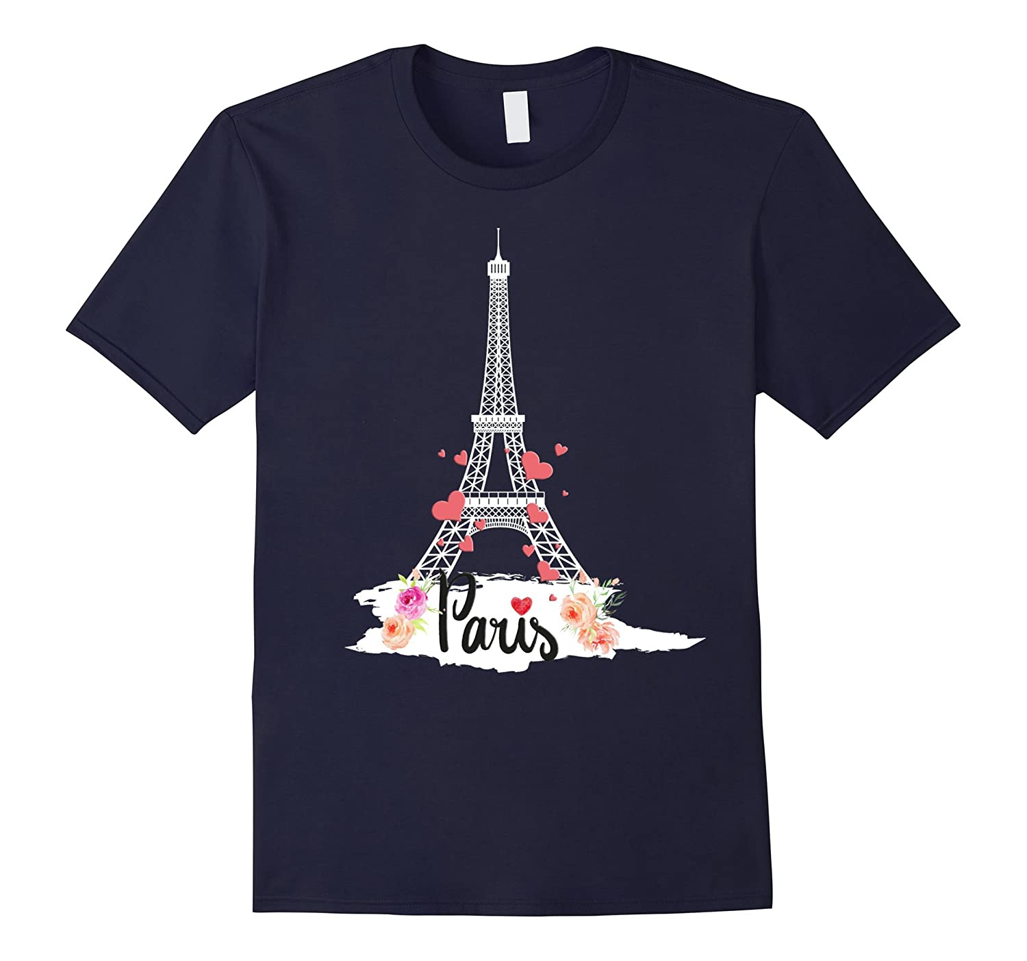 Eiffel tower Paris flower love t-shirt-Art