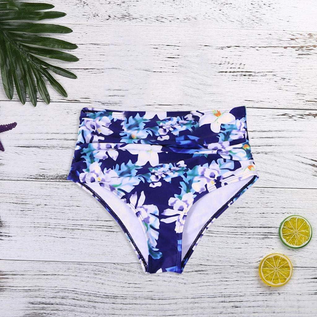 Andouy Bikini Damen Strandkleidung R/üschen Tankini-Oberteile Unterseite Monokini Bademode Schwimmhose