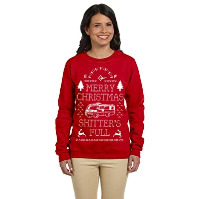 1299 Prime Tees Womens Merry Christmas Shitters Full Plus Size