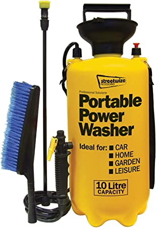 Portable Pressure Washer Power Pump Car Jet Wash Hose Lance 5L Action