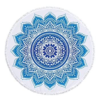 FEOYA - Manta de Mandala de Microfibra Multiusos Toalla de Playa Redonda para Decorar Pared Habitación