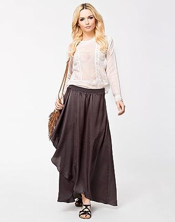 77be12788a Vero Moda Women's Caprisina Long Skirt Dark Purple Large: Amazon.co ...