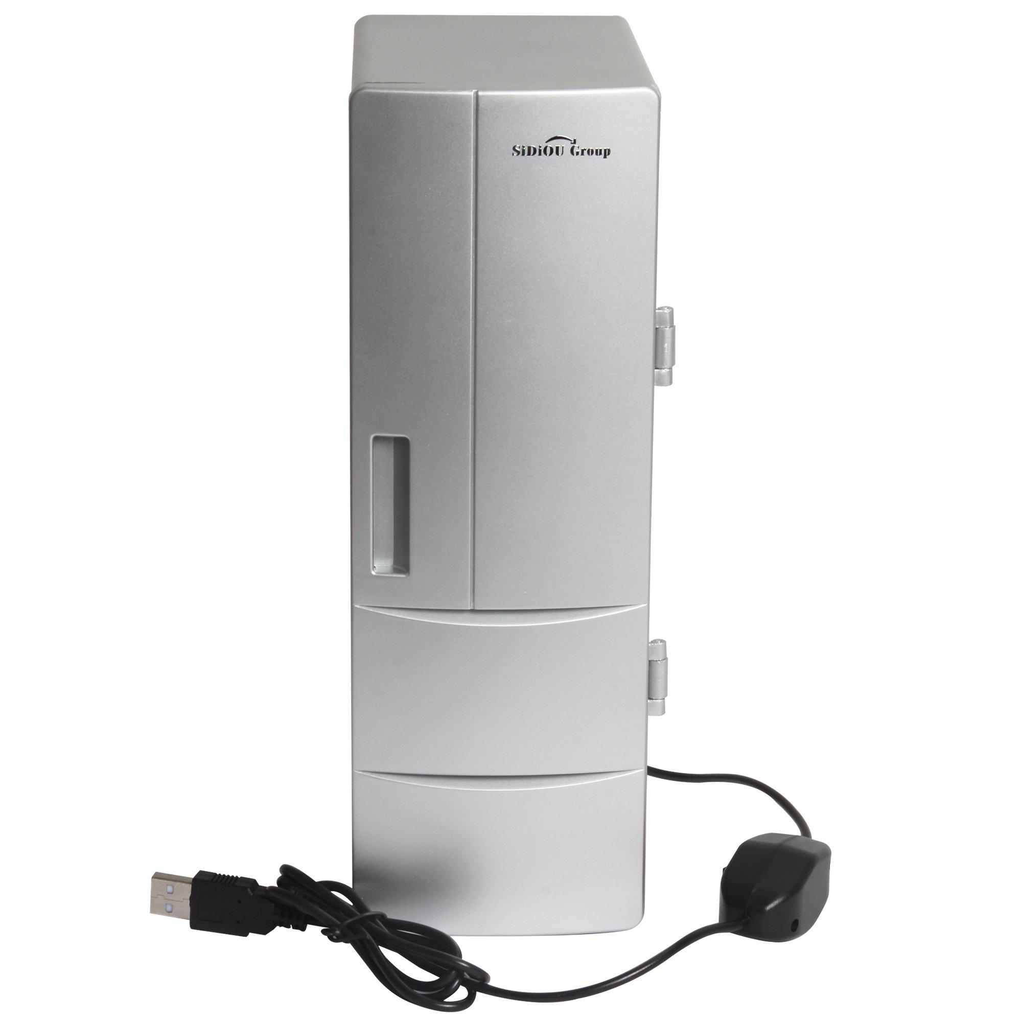 Sidiou Group USB small refrigerator Medium fridge USB mini fridge freezer drinks Cooling And Heating Dual purpose Portable Refrigerator