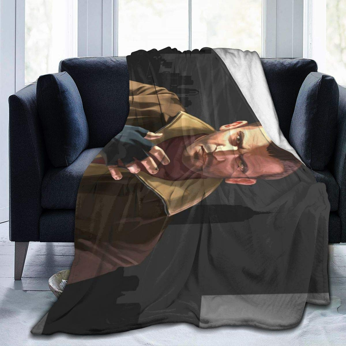 "Gr_and The_ft Au-to IV Ultra-Soft Micro Fleece Blanket Anti-pilling Flannel Sleep Comfort Super Soft Sofa Blanket To Let Your Cold Winter Feel The Warmth Of The Stove (5040)(6050)(8060) 80""x60"""