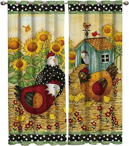 2 Panel Kitchen Cafe Curtain