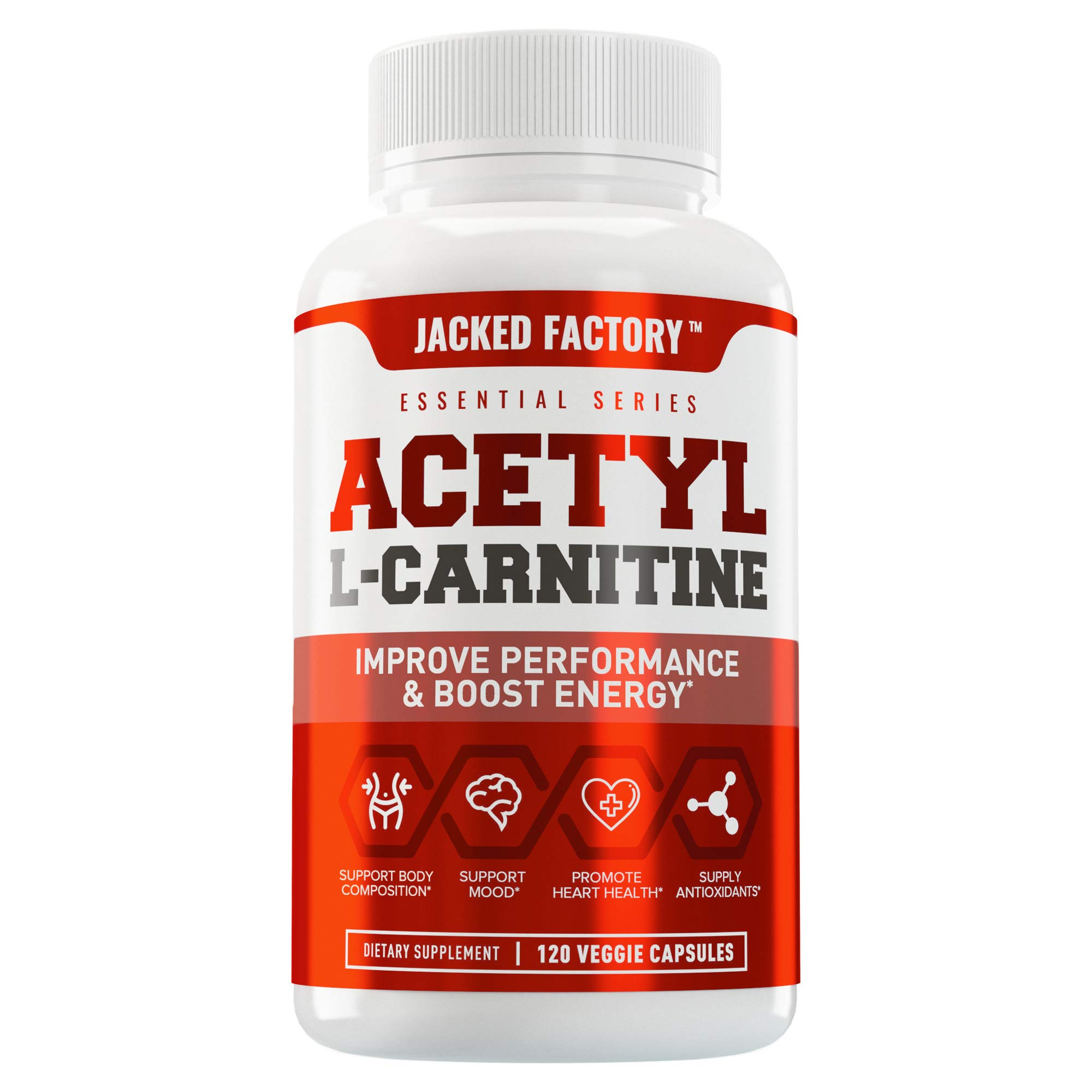 Acetyl L Carnitine Supplement - Premium ALCAR L-Carnitine Supplement for Energy, Body Recomposition, Memory & Focus - Zero Fillers - 120 Non GMO Veggie Pills