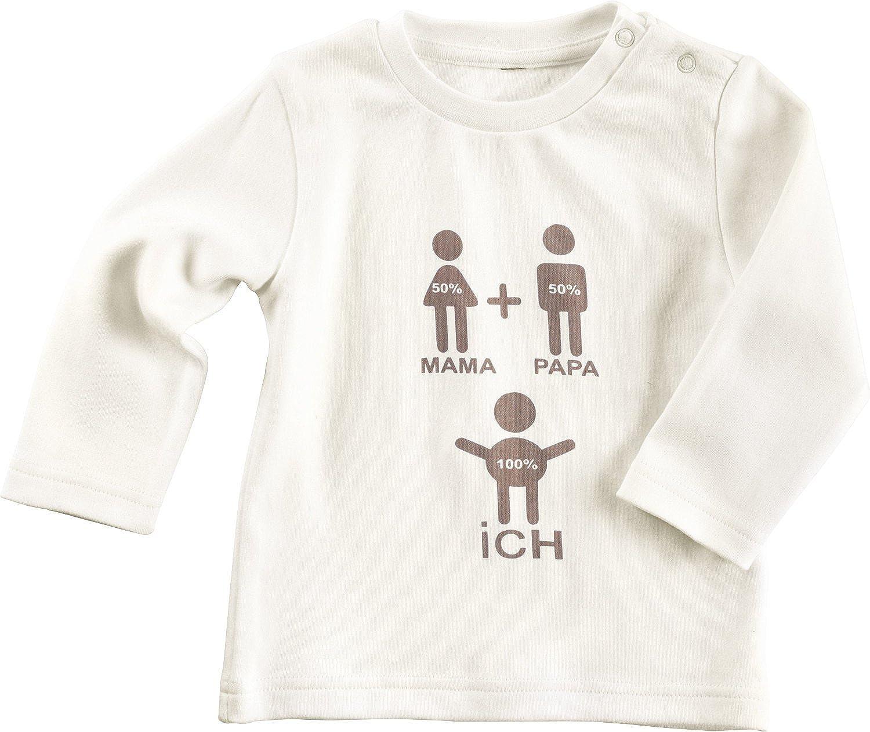 Baby Butt Langarmshirt mit Druckmotiv Interlock-Jersey