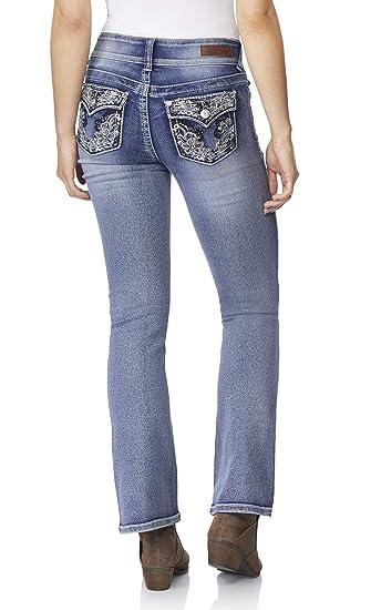 a76e2fccb0c WallFlower Women's Juniors Luscious Curvy Bling Bootcut Jeans in CeCe, ...