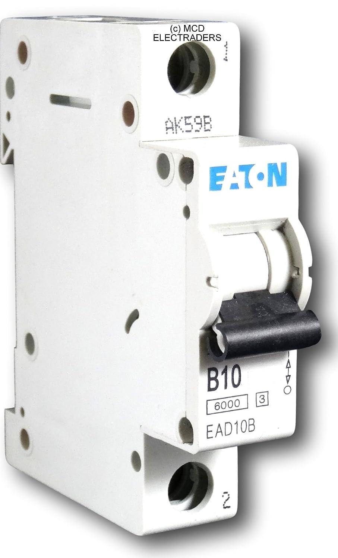 Eaton EAD10B MCB Miniature Circuit Breaker Type B 10 Amp