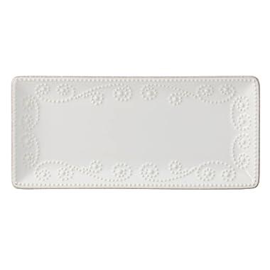 Lenox French Perle Rectangular Tray, White