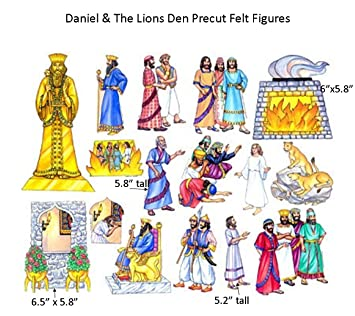 Amazon.com: Daniel and the Lions Den Felt Figures for Flannel ...