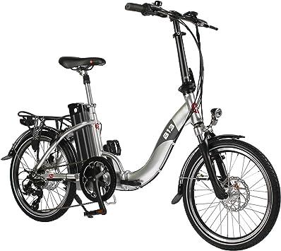AsVIVA E-Bike B13 Plata 20 Pulgadas Pedelec Bicicleta Plegable ...
