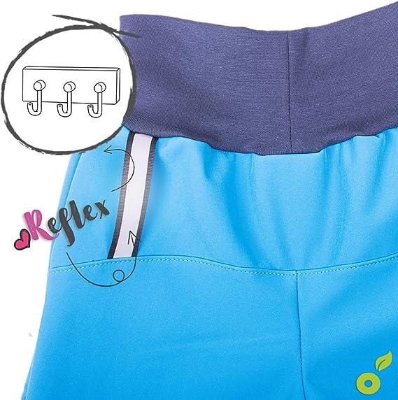 unuo Kinder Softshellhose mit Fleecef/ütterung Hose Wasserabweisend Winddicht Atmungsaktiv Warm Funktionshose Regenhose