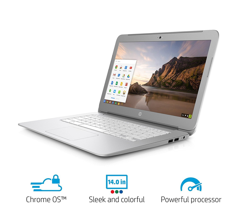 2017 Premium High Performance HP 14 inch Chromebook Full HD (1920 x1080) IPS display,Intel Celeron Quad-Core Processor,4GB RAM,16GB eMMC HDD,802.11AC WIFI HDMI Webcam Bluetooth Chrome OS, only 3.74Lb by HP (Image #4)