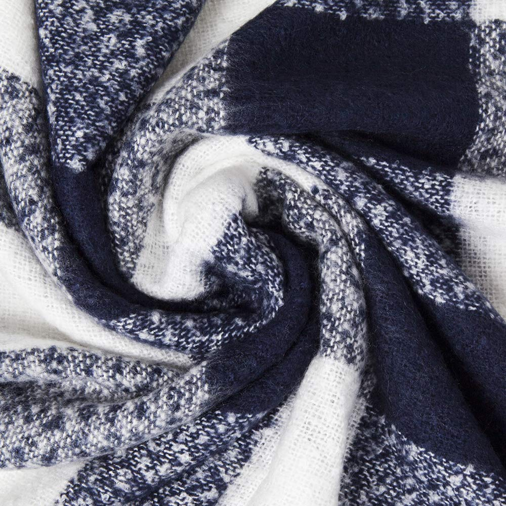 Kaisin Plaid Check Soft Classic Cashmere Feel Winter Warm Scarf