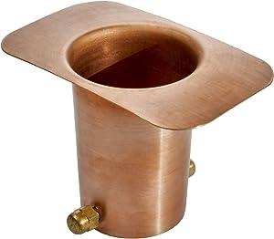Monarch Rain Chains 20040 Pure Copper Brass Bolt Gutter Adapter for Rain Chain Installa, Standard