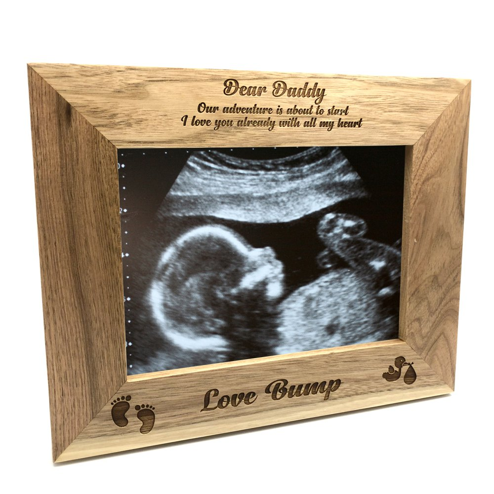 ukgiftstoreonline New Baby Pregnancy Scan Wooden Photo Frame Daddy Gift (4 x 6 Inch)