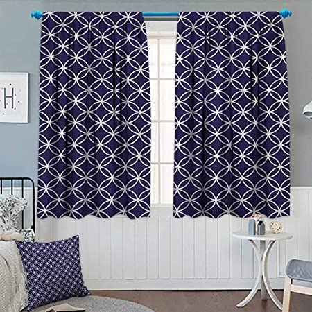 Amazing Indigo Window Curtain Drape Trellis Inspired Pattern Interior Design Ideas Clesiryabchikinfo